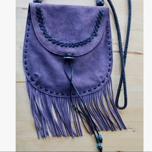 (Gently used) Lucky Brand fringe purse - purple